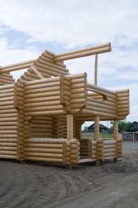 Blockbau aus Holz